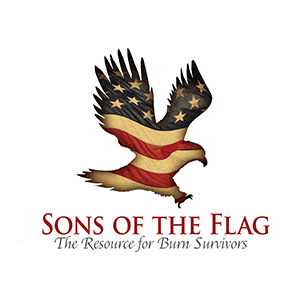 Sons of the Flag Logo, The Resource for Burn Survivors