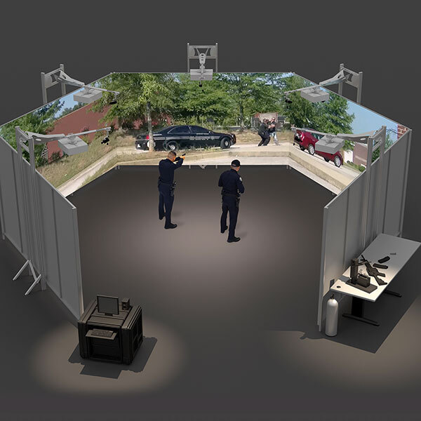 Virtual military training projection