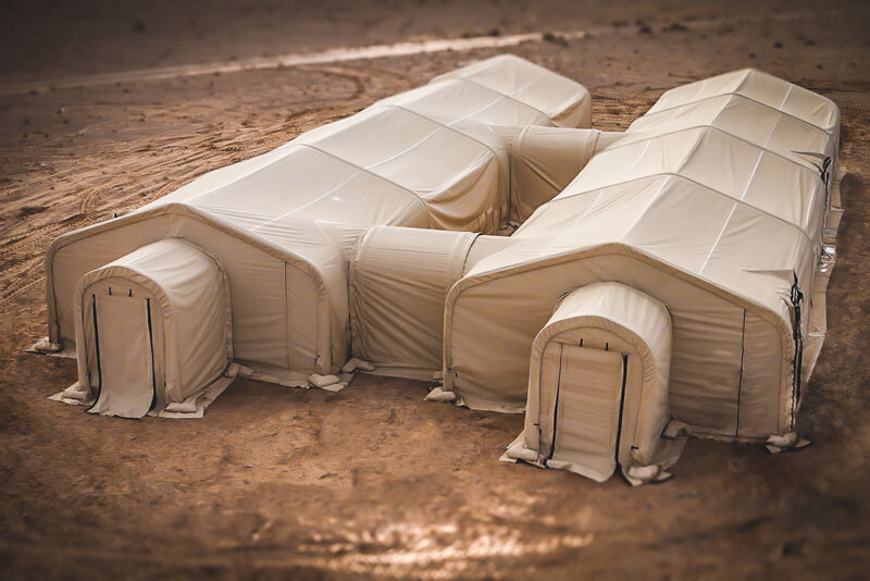 military base camp tents