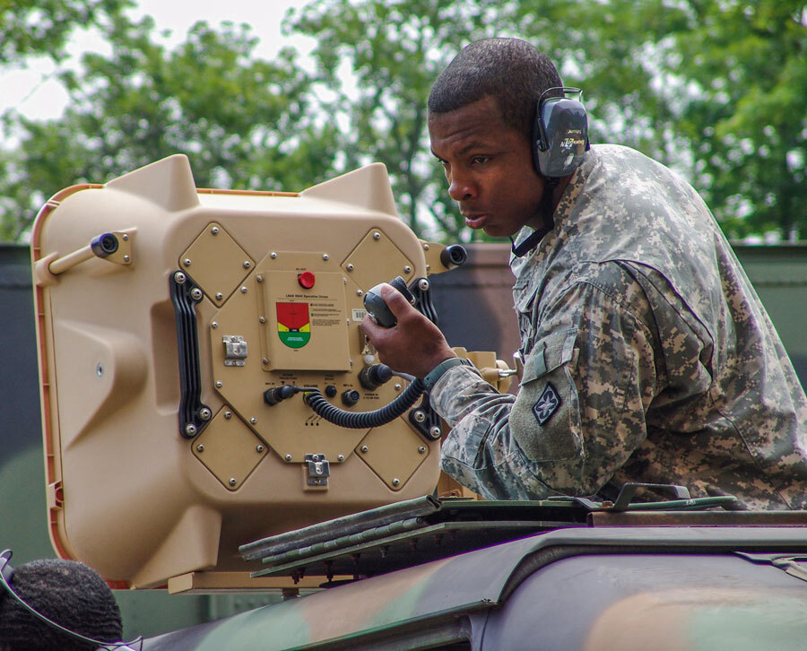 vehicle mounted soldier