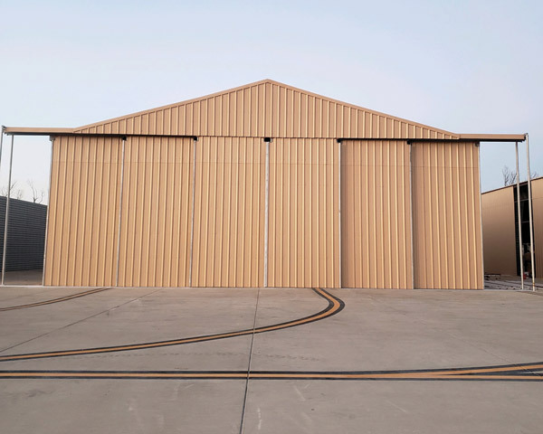 completed hangar construction