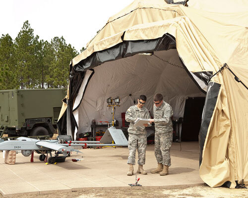 portable military tent