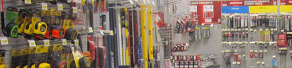 tools in hardware store