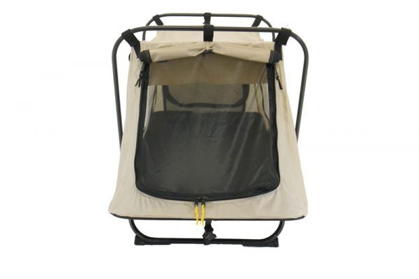 open end military tent