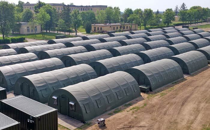 military base tents