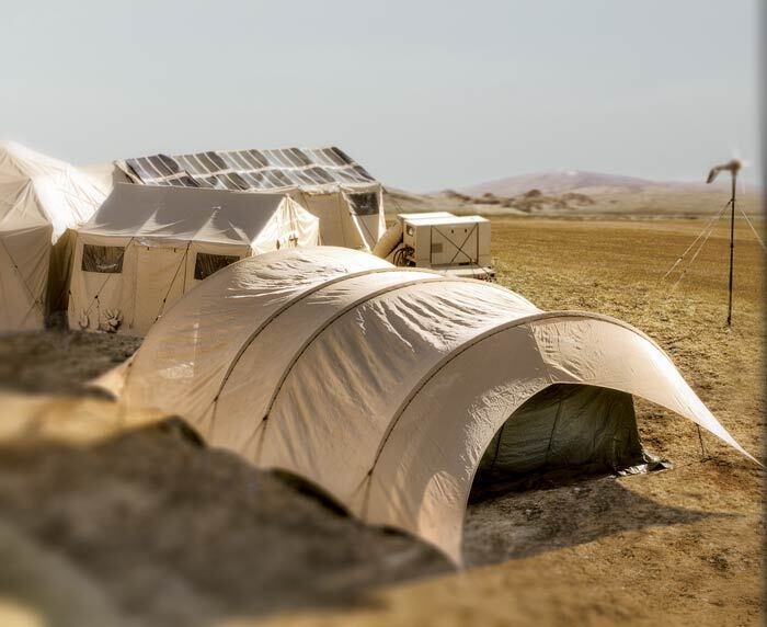 military base tent