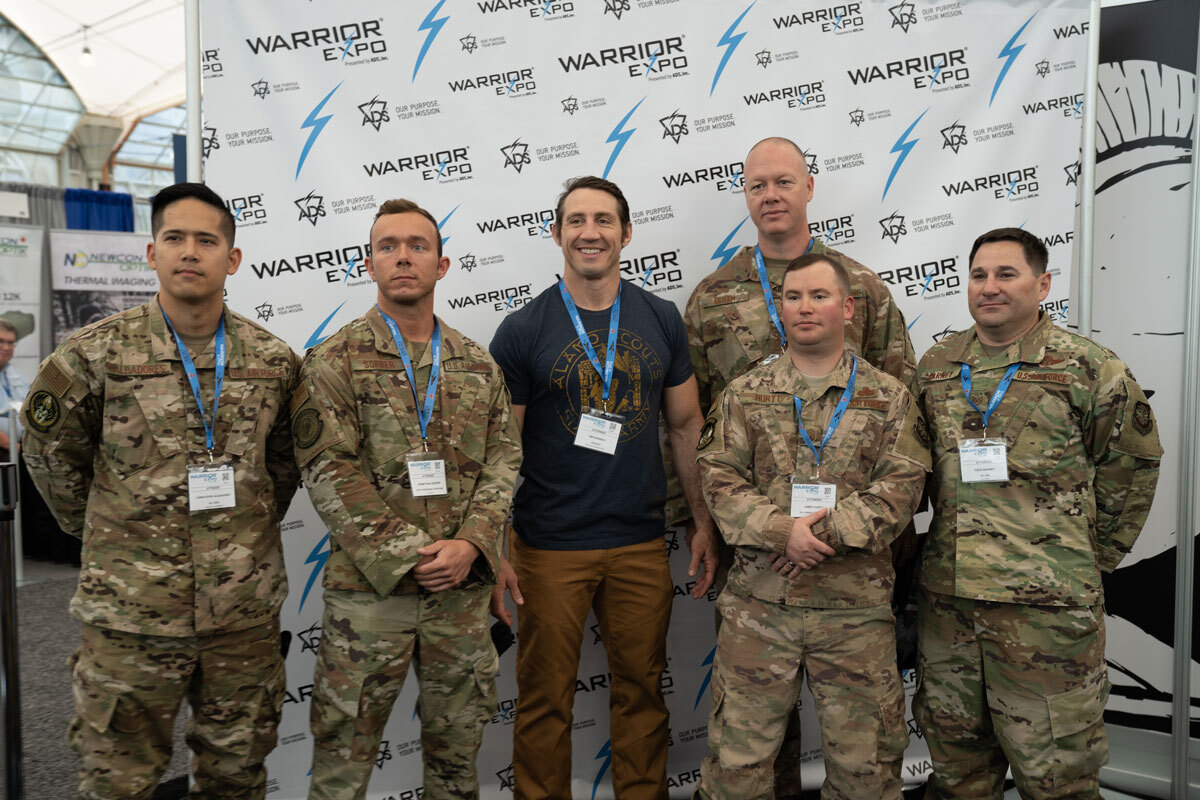 military members pose at Warrior WEST