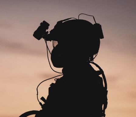 soldier silhouette with equipment